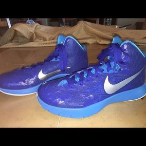 Blue HyperQuickness Nike basketball shoes